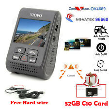 Car Dash Camera DVR A119 Viofo Original Capacitor HD 1440P LDWS w/32GB+Hardwire