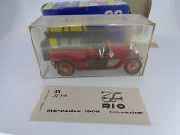 1x Vintage Diecast Rio No.33 1908Mercedes Limousine 70cv Scale 1:43 Boxed