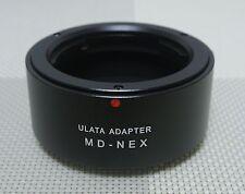 ULATA Lens Adapter + Rear Cap Minolta SR MD MC to Sony E Mount Camera A7 A6000