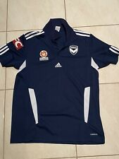Melbourne Victory Adidas Polo Top Shirt Medium