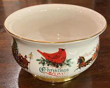 Charles Wysocki Christmas Love 1999-2000 Teleflora Footed Bowl Planter   61C3