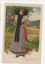 Schaumburg Lippische Landes Tracht 1909 Chromo Litho Postcard Germany 398a