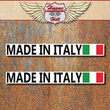 Made in Italy Stickers 2x 100x12mm Car Motorbike Vespa Fiat Lancia Italian Decal