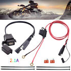 Waterproof SAE to USB Charger / Adapter for Motorcycle Cable Phone GPS Tablets