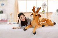 Cute Giant Big Cuddly Deer Plush Soft Toy Reindeer Animal Doll Nice Xmas Gifts