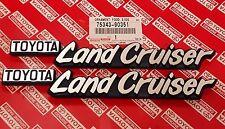 New OEM Toyota Land Cruiser FJ40 FJ43 FJ55 BJ40 HJ45 Fender Emblem Plate Set