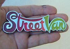 STREET VAN DODGE EMBLEM Chrome Metal Badge *NEW & UNIQUE* StreetVan Multi Color