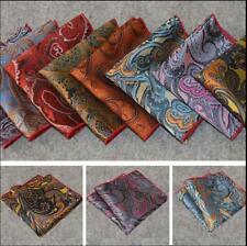 SF12 Lot 20 Pcs Paisley men 100% silk handkerchiefs pocket square wedding suit