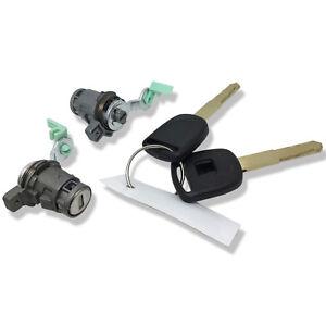 Left & Right Door Lock Cylinder w/ 2 Keys For 2003-2005 Honda Civic 1.3L 1.7L