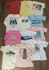 Vintage 80s 90s 12 Souvenir Graphic Tshirt Lot Single Stitched Vtg Made In Usa