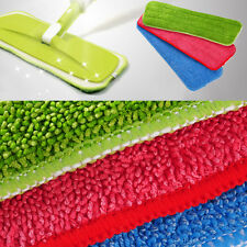 Green Household Dust Cleaning Reusable Microfiber Pad For Spray Mop 420*140mm