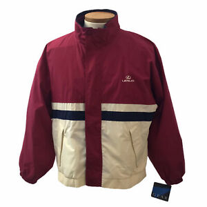 Vintage Lexus Gear For Sports Men's Red White Windbreaker Jacker Size Med NWT