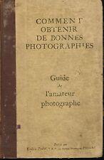 livre: comment obtenir de bonnes photographies. kodak-pathe. G