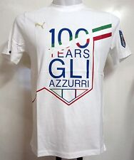 ITALY WHITE 100 YEARS GRAPHIC TEE SHIRT BY PUMA SIZE ADULTS MEDIUM BRAND NEW
