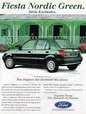 PUBLICITE ADVERTISING  1993  FORD  FIESTA  NORDIC GREEN