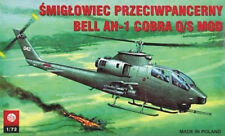 BELL AH 1 Q/S COBRA ( U.S. ARMY MARKINGS) 1/72 PLASTYK