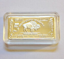 "5 Gram German Silver ""USA Buffalo"" Ingot"
