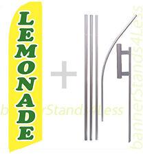 Feather Flutter Swooper Tall Banner Sign Flag 15' Kit- Lemonade b