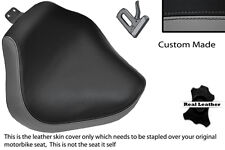 GREY & BLACK CUSTOM FITS YAMAHA XVS 1100 DRAGSTAR FRONT LTHR SEAT COVER