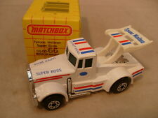 1982 MATCHBOX SUPERFAST #66 WHITE TYRONE MALONE SUPER BOSS DRAG TRUCK MIB