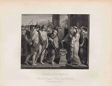 PYLADES & ORESTES by WEST - 1832 Engraved Print Plus BONUS