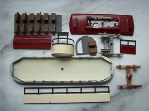 4mm scale model tram kit parts, whitemetal and plastic