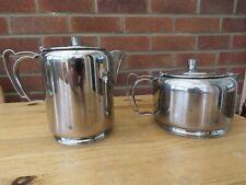 Olde hall Tea & coffee pots stainless steel 1950's originals