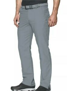 Under Armour Men's Match Play Golf Pants Gray Straight Leg 30x36 1248089 035
