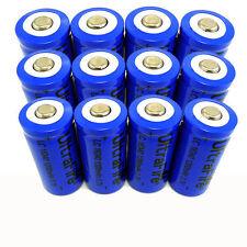 12pcs 16340 CR123A LR123A 3.7V 1200mAh Rechargeable Battery Li-Ion Batteries USA