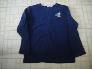 VINTAGE Looney Tunes Tweety Fleece BLUE Womens SHIRT Long Sleeve LARGE