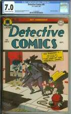 DETECTIVE COMICS #91 CGC 7.0 OW/WH PAGES // JOKER COVER + STORY 1944