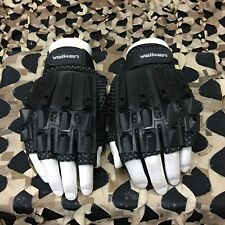 New Valken Alpha Half Finger Paintball Gloves - Black - Xs/Small