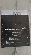 Marantz car 750 Service Manual car stereo tuner radio audio cassette tape player