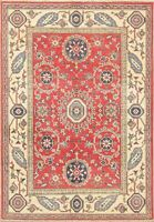 Geometric Red Super Kazak Oriental Area Rug Hand-Knotted Foyer Carpet Wool 3'x5'