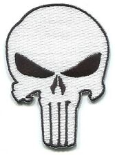 PUNISHER skull EMBROIDERED IRON-ON PATCH marvel, army military combat tactical