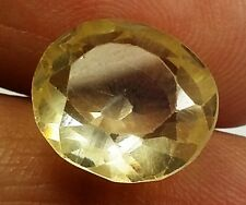 11.95 Ct Lab Created Yellow Sapphire Aaa+Top Quality Awesome Gem Ring use 1649