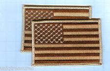 "American Flag Patch - Lot of 2 - Star Field Left, Desert Sand 3 1/2"" X 2 1/4"""