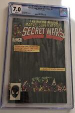 Secret Wars #4 Marvel Super Heroes CGC 7.0 white pages 1984 Marvel Comics