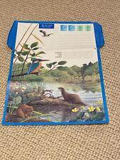 Nature Aerogramme (Airmail Letter) unused Kingfisher/otter 26p