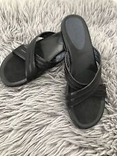 COLE HAAN NIKE AIR WOMENS SANDALS BLACK SZ 10B