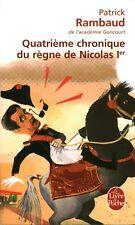 Livre Poche quatrième chronique du règne de Nicolas Patrick rambaud 1er book