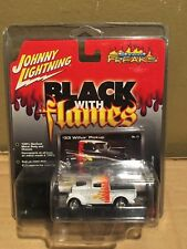 Johnny Lightning Black With Flames White Lightning '33 Willys Pickup Truck