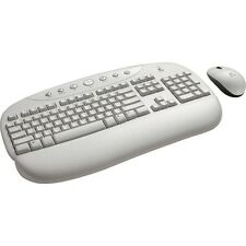 LOGITECH CORDLESS Internet PRO deskop KB e Mouse Bianco-Layout francese