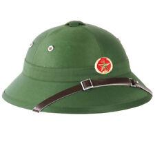 Clásico Ejército Vietcong Estilo Tropical Salacot Verde Verde Oliva Con Placa Ré