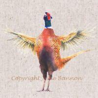 Pheasant  canvas print by Jane Bannon