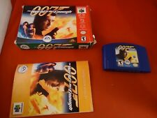 007 The World Is Not Enough (Nintendo 64, 2000) N64 COMPLETE w/ Box manual Bond