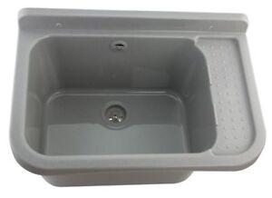 Waschbecken grau Becken für Außen Garage Hof Garten Beständig neu