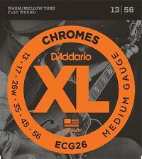 D'Addario ECG26 Chromes Flat Wound Medium 13-56 Guitar Strings