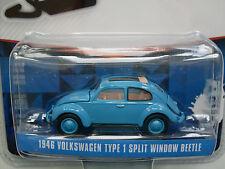 1946 Volkswagen Tipo 1 Split Ventana Beetle abierto Tejado,azul,Greenlight 1:64