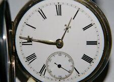 Antike Englische Herren Schlüssel Taschen Uhr Sterling Silber  um 1850-90.